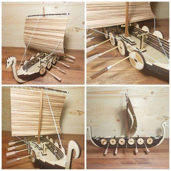 Макет парусной лодки викинга