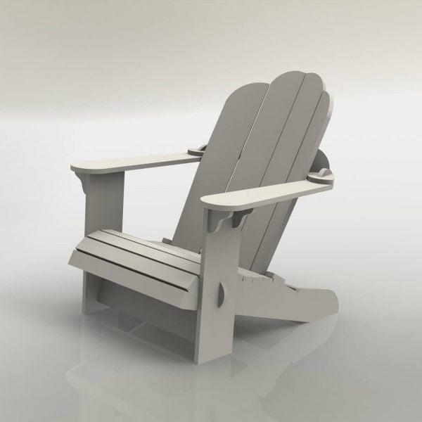 Макет низкого кресла со спинкой
