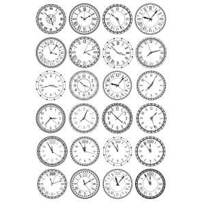 Набор циферблатов часов