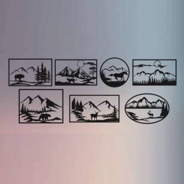 Набор макетов панелей Дикая природа