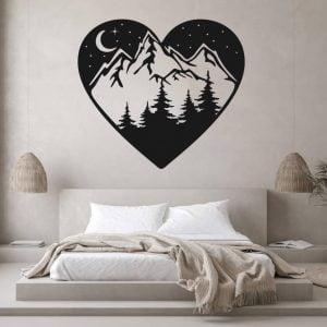 Макет панно горы в сердце