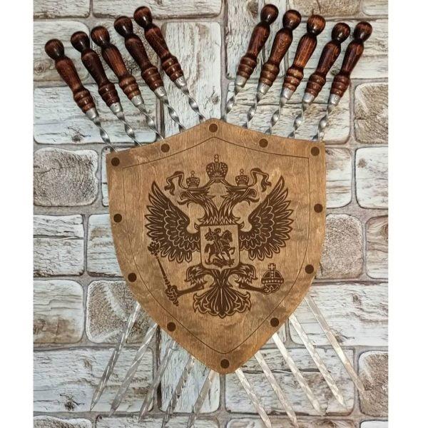 Подставка для шампуров щит