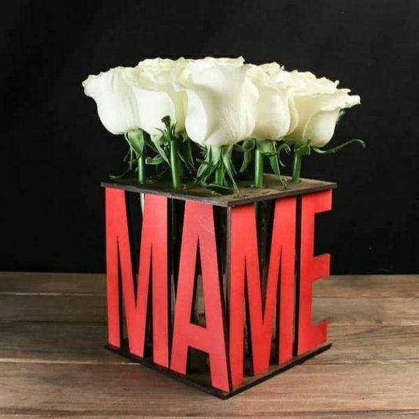 подставка под колбы с цветами Маме