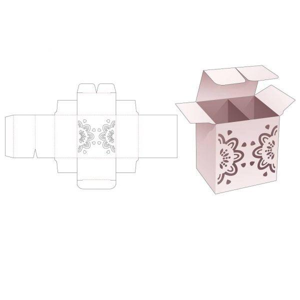 прямоугольная коробка с 2 отсеками