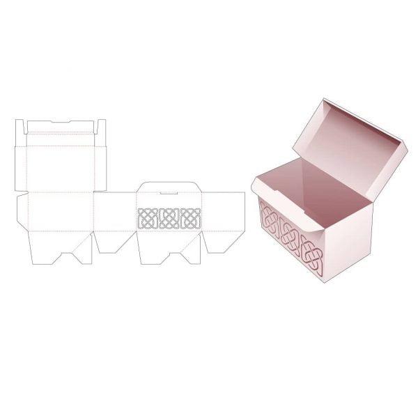 Прямоугольная коробка с фиксированной крышкой