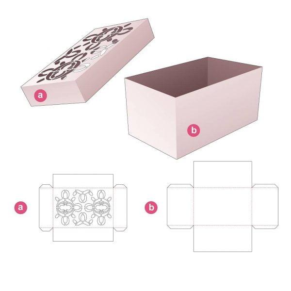 Прямоугольная коробка с крышкой