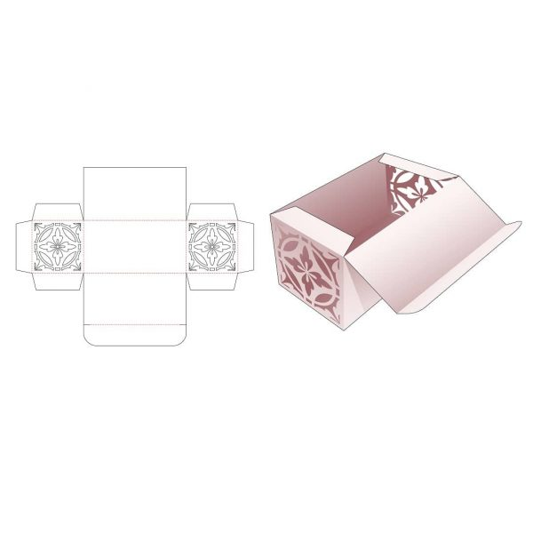Прямоугольная коробка с откидной крышкой
