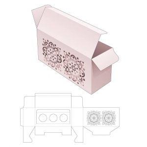 Прямоугольная коробка со вставкой