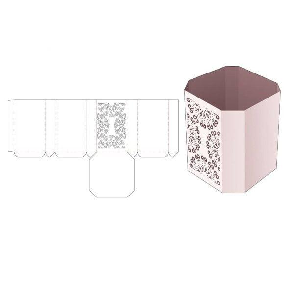 Шестигранная коробка без крышки
