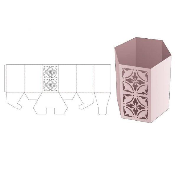 Шестиугольная коробка для канцелярских принадлежностей
