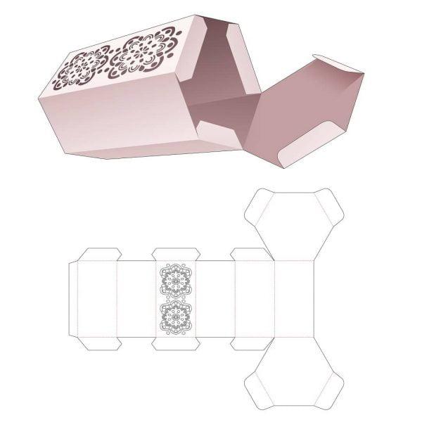 Шестиугольная упаковочная коробка