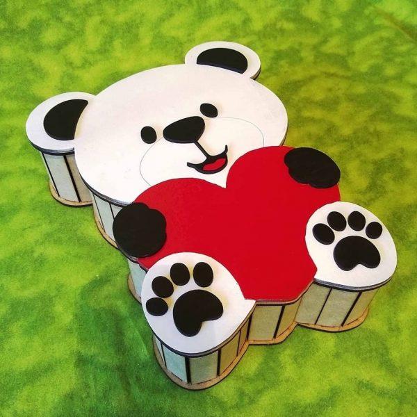 шкатулка медведь