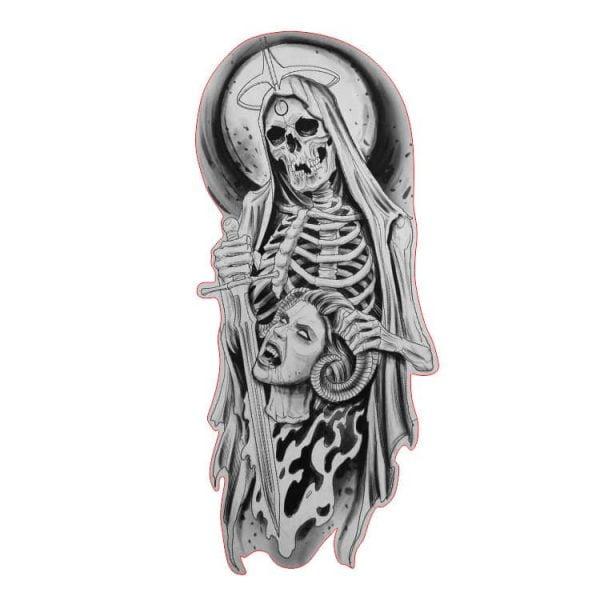 Скелет с мечом в векторе