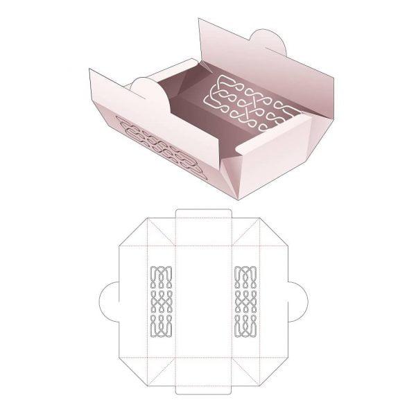 Складная коробка для выпечки