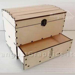 Макет сундука с ящиком