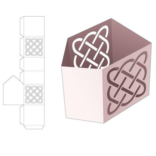 Угловая канцелярская коробка