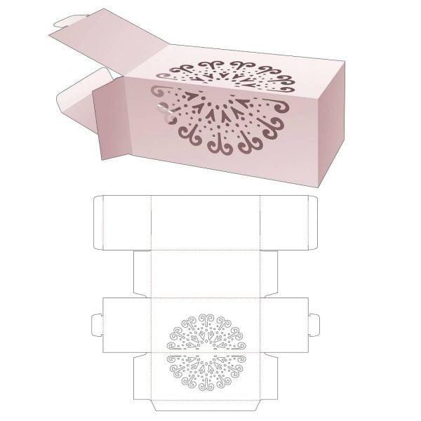 Упаковочная коробка с откидной крышкой