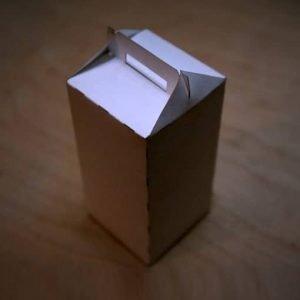 Высокая коробка с ручкой