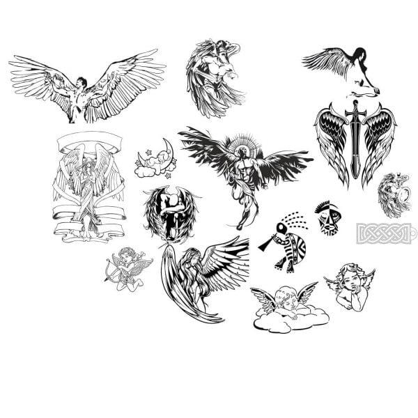 Рисунки ангелов для гравировки