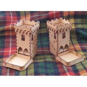 башня для игральных костей макет