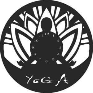 Часы йога макет