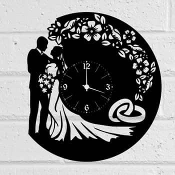Макет часов жених и невеста