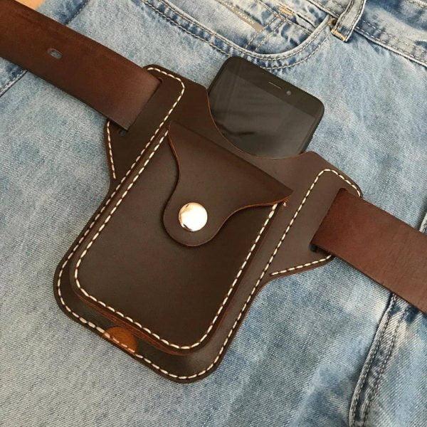 Выкройка чехла для смартфона из кожи