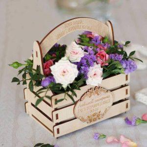 Макет цветочной корзинки