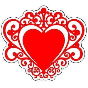 Макет свадебного декора сердце