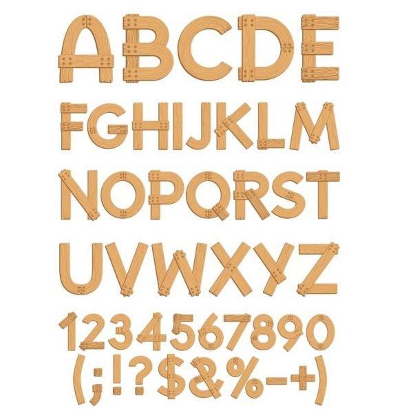Деревянный алфавит в векторе