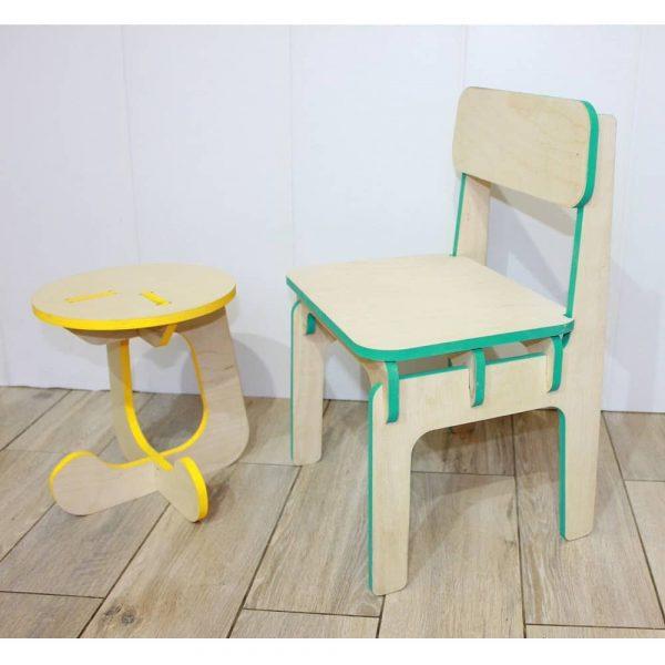 Детские стульчики со спинкой и без