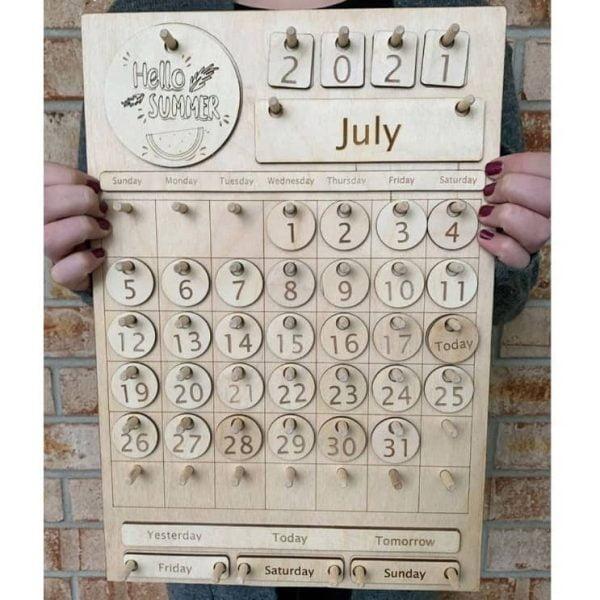 Макет детского вечного календаря