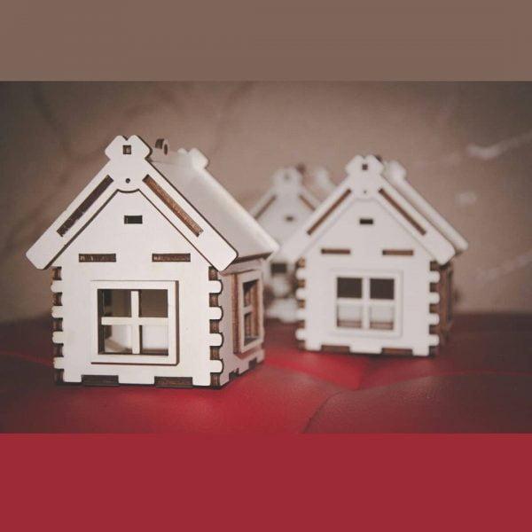 домик с крышкой макет
