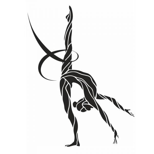 Векторный рисунок гимнастки