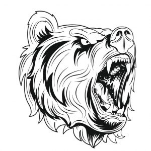 Рисунок голова медведя