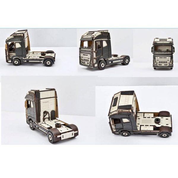 Макет грузовика с фургоном