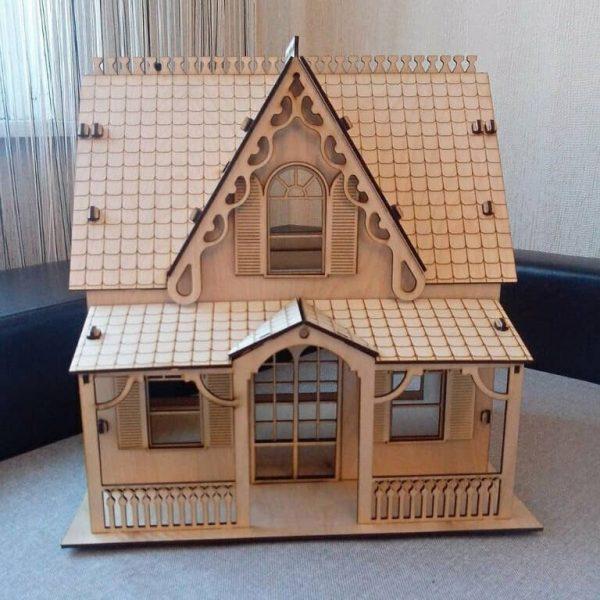 Игрушечный домик из фанеры