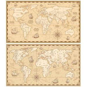 Карта мира рисунок для гравировки