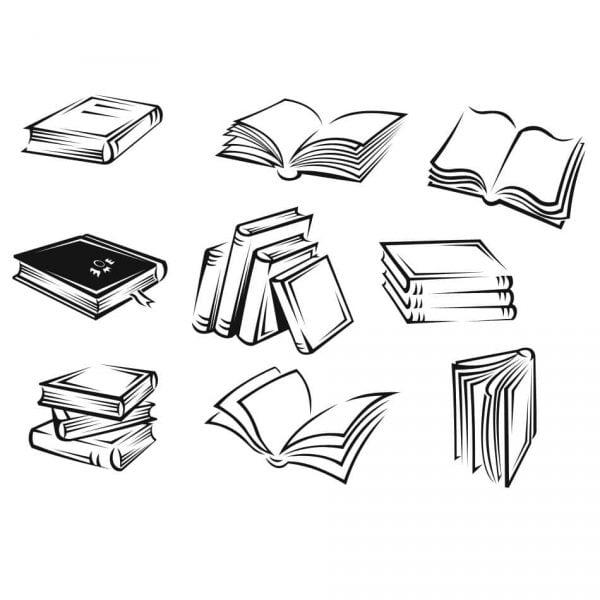 Векторные рисунки книг