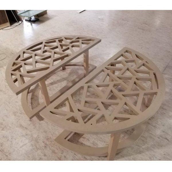 Макет кофейного столика из 2 частей