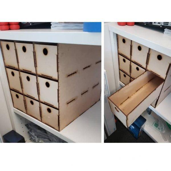 Макет комода с 9 ящиками
