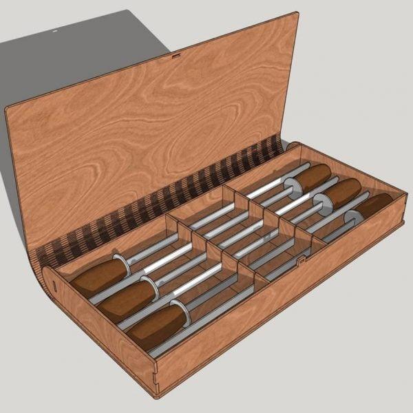 коробка для 6 шампуров макет