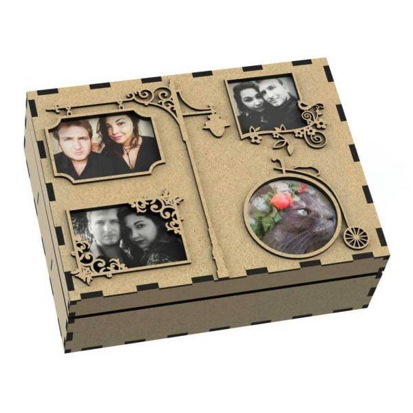Макет коробки для фотографий