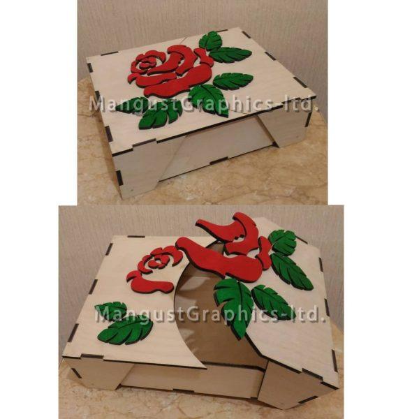 Коробка с розой макет