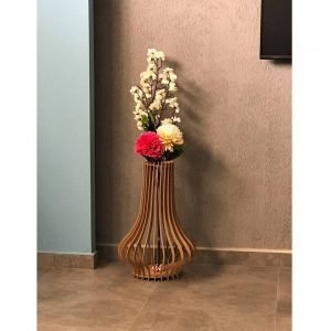 Макет круглой ребристой вазы