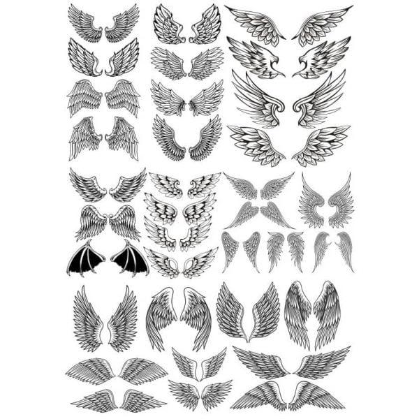 Рисунки крыльев