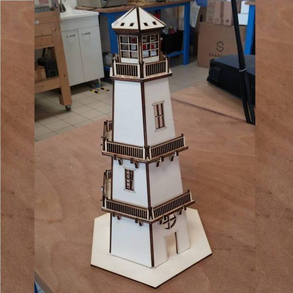 Макет маяка из фанеры