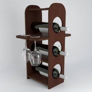 Макет минибара для бутылок и бокалов