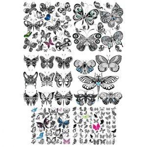 Набор бабочек в векторе