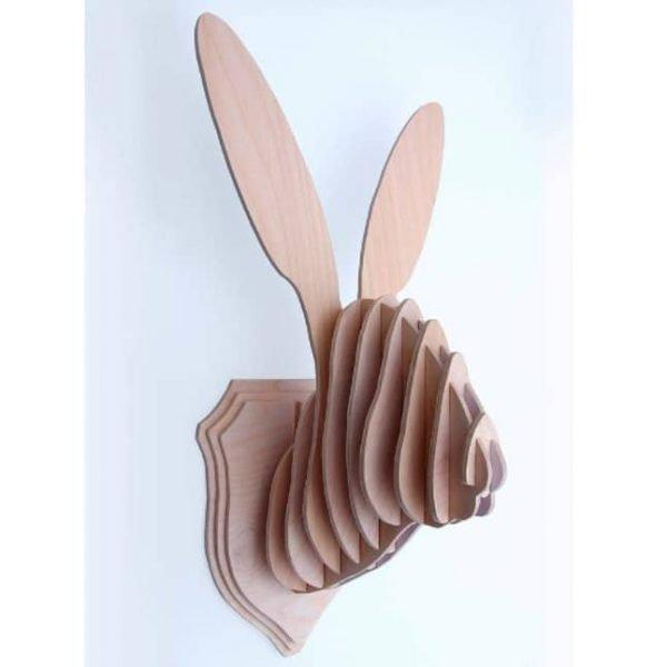 Макет настенного украшения голова зайца